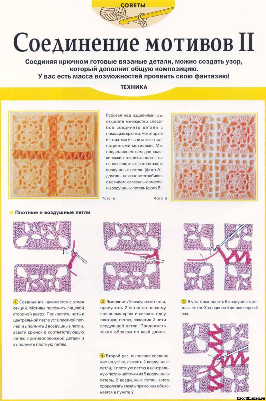Как соединять детали в вязании спицами