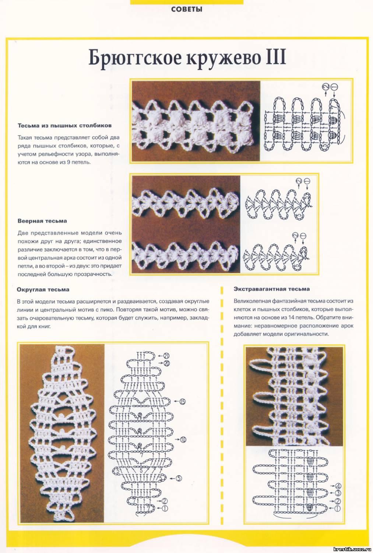 Фото схемы тесьмы крючком схемы