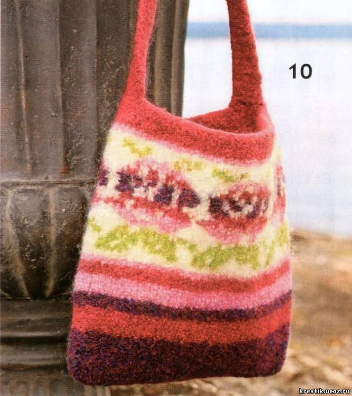 Вязание сумок спицами - схемы