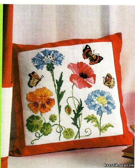 Подушки - схема вышивки