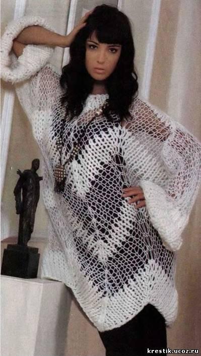 Вязание свитера схемы с описанием