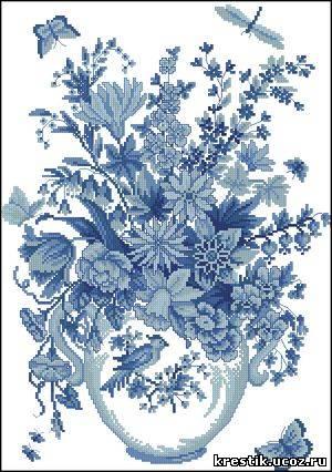 Cхемы вышивки крестом цветы
