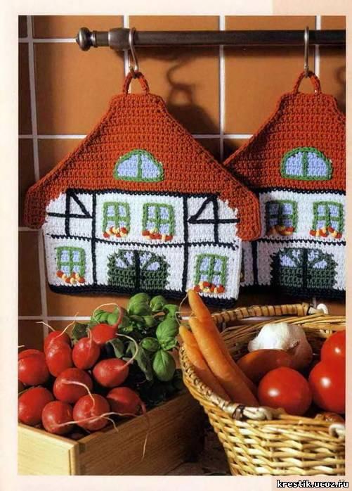 Вязание спицами для дома кухни