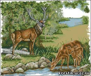 Картинки для вышивания крестиком схемы природы