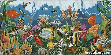 Схемы для вышивки океан