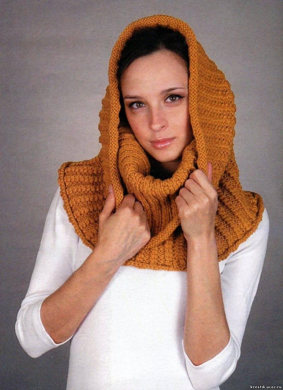 Как связать шарф снуд спицами - для начинающих фото и видео 76