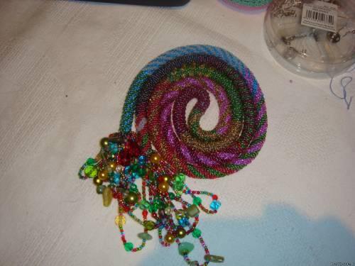 бисерный шнур:змея.